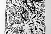 Doodle and zentangle