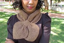 Knitted Keyhole Scarves / all knit scarves and knitting patterns with a keyhole.