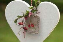 Corações de madeira
