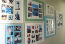 Around the House {Photo Walls}