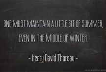 Quotes: Summer +/or Winter