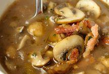 Champignonsoep met port en spekjes / Soep
