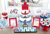 A&K Lolly Buffet {Iron Man Themed 40th Birthday Dessert Table} / http://aandklollybuffet.com.au/ironman-themed-40th-birthday-dessert-buffet/