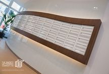 Queensland Curve Project / A bank of curved designer mailboxes!