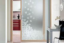 glass door sliding