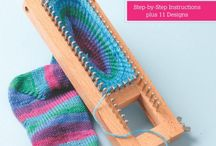 calze, calzature crochet e knitting