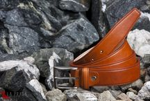 Traditional handmade leather belts from Prague - LaPraga.cz / Italian buckles, leather from French cows, French threads and golden Czech hands...