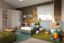 Per i vostri figli / Camerette per bambini e ragazzi. Colori e tessuti si mescolano in una perfetta armonia