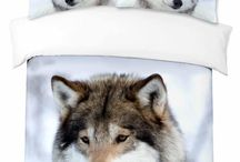 Wolf Cushion Duvet Cover Bedding Sets / A selection of great wolf print design bedding sets
