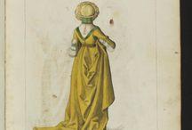 Reenactment -  Mittelalter:  Stehfaltenkleid