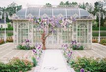 Wedding Arches / Decoration Ideas for Ceremony: Outdoor, Rustic, Greenery, Simple, Beach, Floral, Tree, Boho, Bohemian, Garden, Wisteria, Burgundy, Tropical, Eucalyptus