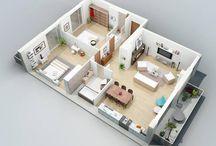 Floor plans. Two bedrooms