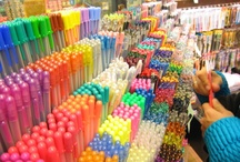 stationery, pens..