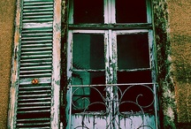 french windows/balcony