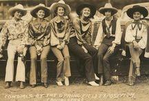 Original cowboy and cowgirl