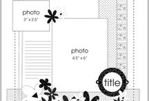 Scrapbook Layouts:  Sketches / by Susan Linhart