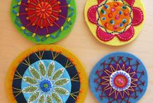 felt embroidery circles
