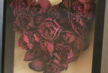 DIY rosas secas