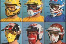 Vintages Dirt Helmets