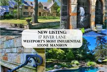 PRIVATELY LISTED: 17 River Lane, Westport, CT / One of Westport's most influential stone mansions is privately listed with Cindy Raney at The Riverside Realty Group. It may be purchased on 2 acres of picturesque and private property with swimming pool for $2.7MM or with an additional acre which includes a superb multi-purpose barn for $3.5MM.