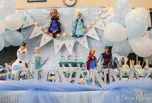 Festa Frozen na escola / Festa Frozen da minha filha na escola
