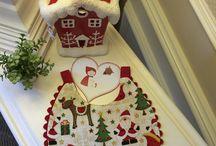 "Baberos ""Merry Christmas"". /  Baberos reversibles ."