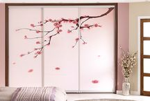 Oriental Dreams / Take inspiration from the Orient and create a subtle Japanese theme by combining contemporary low line furniture with the warm and calming tones of dusty pink and walnut.