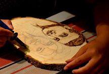 Wood pyrography
