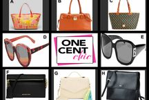 GOTTA HAVE THESE BAGS AND SHADES Thursday April 3 at 10 PM ET at OneCentChic / Calvin Klein, Dooney & Bourke, Fendi, Deux Lux, Lauren Ralph Lauren, Jonathan Adler and Michael Kors Bags and Shades