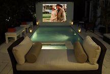 Backyard movie theather