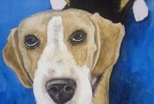 Pet Pawtraits / Commisions done on painted pet pawtraits. email me at frame@mweb.co.za