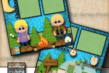Scrapbooking camping layouts