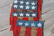 Americana / Crafts and decor for the red, white and blue.