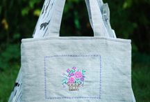 Wisniowy Skladzik - handmade bags and other / handmade bags made of linen and cotton.