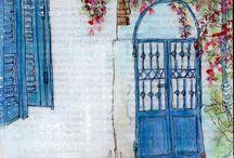 Mediterranean Courtyards and gardens
