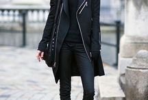 Dressed black