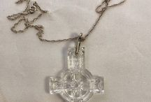 Waterford Crystal Irish Cross Pendant