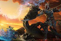 guerreros y mounstros