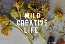 wild creating / Oh the possibilities if we can connect the dots between all that goes into our creating and the wise care of the planet. Too much of it can now trace its ingredients to petroleum, plastic and the continued plundering of earth's resources. But it can all be transformed with each small change...