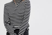 Fashionable Stripe Style Tops