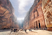 Petra - Jordan's World Wonder / Petra, Jordan's crown jewel, is one of the world's 7 Wonders, a UNESCO World Heritage Site, and is a marvel to behold.
