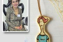 """KLOVA of Maria Soldatova / 100% fatto a mano www.designer.flazio.com """"KLOVA"""""""