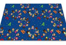 Educational Classroom and Day Care Rugs / Classroom and Day Care rugs designed with alphabet, numbers and other educational elements