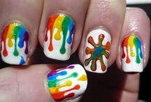 Art Rainbow nails