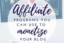 Make money blogging / Monetize your blog, blog monetization, make money blogging, blog advertising, affiliate linking, selling products, just to name a few keywords present in this board.