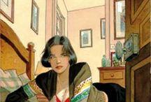 retratos de mulleres lectoras