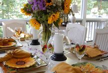 Center Pieces & Table Settings / by Melissa Parker