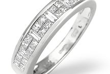 """Unusal Eternity Rings / With """"big"""" glamour and style, these spectacular diamond rings make unforgettable gifts that are guaranteed to impress the one you love."""