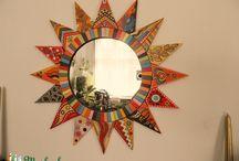 Lakásdekoráció / Various mural paintings with unique planning, mirrors, unique objects: Into children's room, a kitchen, living-room.  Különböző egyedi tervezésű lakásdekoráció: faliképek, tükrök, egyedi dísztárgyak...
