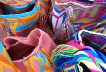 """Wayuu Bags / The Wayuu (pronounced """"Wah-You"""") people are an indigenous Latin American group living in La Guajira Peninsula.  These crochet wayuu bags are made by Wayuu women, giving you a taste into the colorful life and history of its people. The colors of the mochilas Wayuu are inspired by the vivid colors that surround their region. They depict in a simplified way, elements from the mother nature that catch the eyes of the artisan."""